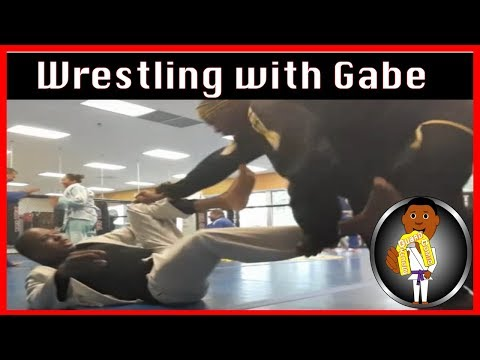 BJJ Roll No. 110 - Rolling with Gabe  -at Smiley Academy