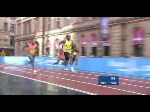 Usain Bolt Wins The 150 Metres Race In Manchester WORLD RECORD