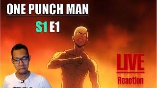 [Vezaks: реакция] Непобедимый герой. One Punch Man - 1 сезон 1 эпизод