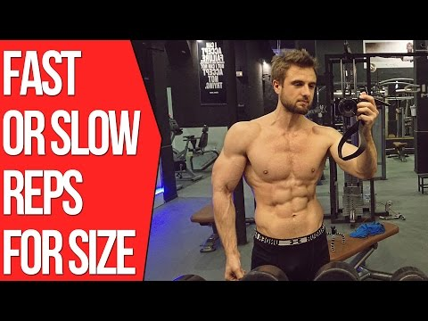 Fast Reps Vs Slow Reps - Which is Better To Build Muscle? (Backed By Science)