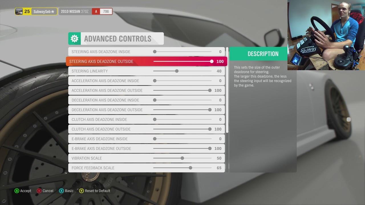 Forza Horizon 4 | Wheel Settings - Logitech G920