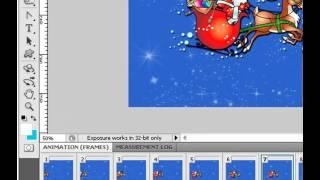 Анимация в фотошопе. К нам спешит Дед-Мороз