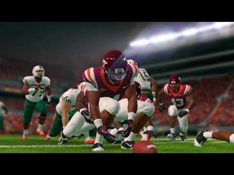 NCAA Football 14 Season 2016 2017 Miami Hurricanes vs Virginia Tech Hokies