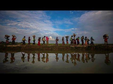 يورو نيوز:شاهد: قارب يقل 76 من مسلمي الروهينغا يرسو في إندونيسيا