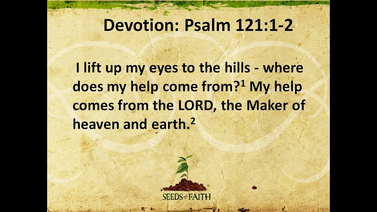 August 5, 2020   Psalm 121:1-2     Lifting our Eyes