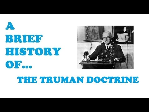 an introduction to the history of the truman doctrine Us history - the cold war outline thesis statement-policy of the united states in the cold war introduction-history of the cold war post world war ii-reasons of the cold war analysis-generalized analysis of the cold war conclusion-conclusion of the essay with generalized justification thesis.