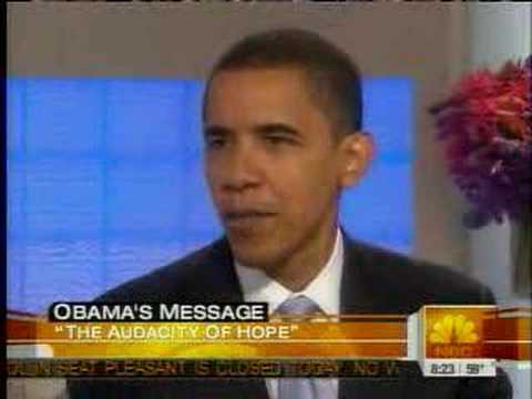 Senator Obama on The Today Show