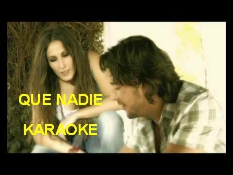 Manuel Carrasco, Malú / Que Nadie karaoke