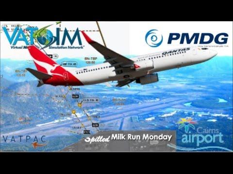 PMDG 737 on Vatsim, Brisbane to Cairns (FSX)