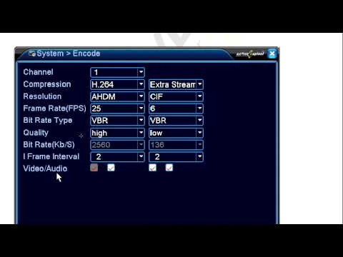 Analog camera configuration on AHD DVR