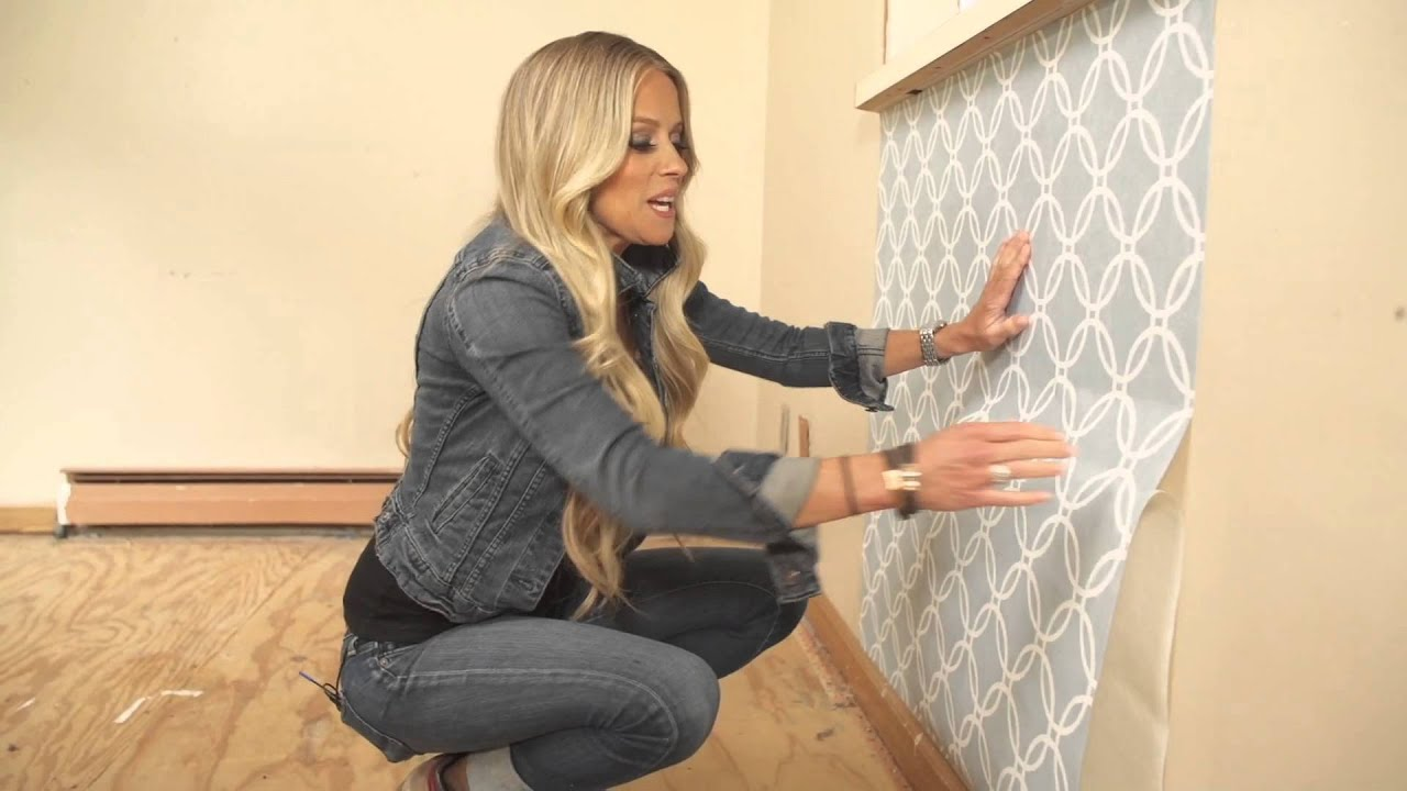 NICOLE CURTIS HOME | 457-435 Set of Two Removable Wallpaper Rolls w/Application Kit - YouTube