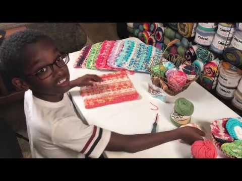 Jonah Tutorial: Yarnspirations SCRUBBING WAFFLE DISHCLOTH
