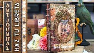 Tutorial encuadernación Copta y Francesa / Haz tu libreta de Art Journal -