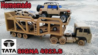How to make TATA Heavy Carrier truck from cardboard / Automatic loading/unloading