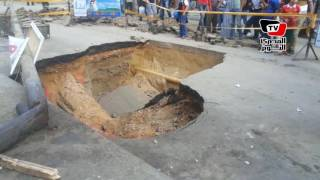 هبوط أرضي بـ«سيدي بشر» يتسبب في إغلاق الشارع
