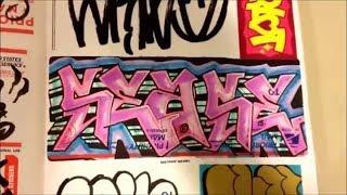 GRAFFITI STICKERS BLACKBOOK -TRADE COLLECTION