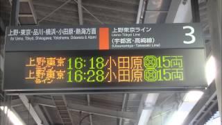 【誤放送!】上野東京ライン 「3ドア」の予告放送!? @赤羽駅