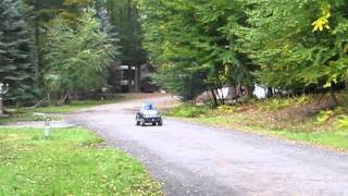 Jacka & Daniel driving a jeep, Eagle Lake, PA