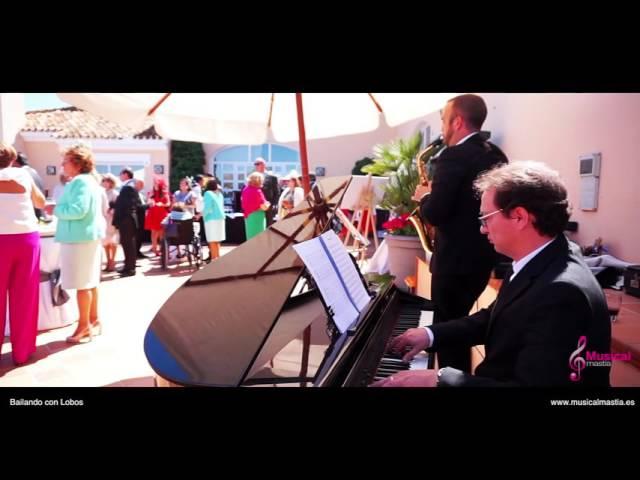 Bailando con Lobos Piano y saxo La Manga Club La Manga del Mar Menor Hotel Principe Felipe Wedding