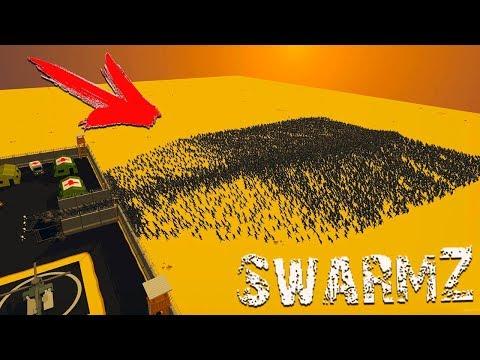 Эту ТОЛПУ ЗОМБИ не ОСТАНОВИТЬ! Как УНИЧТОЖИТЬ ЗОМБАКОВ и СПАСТИ ИЗБРАННОГО? Игра SwarmZ от CoolGAMES