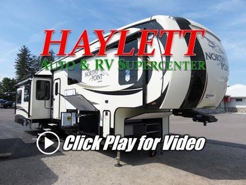 HaylettRV.com - 2017 Jayco North Point 381DLQS Slide Out Mega Bathroom Luxury Fifth WHeel RV