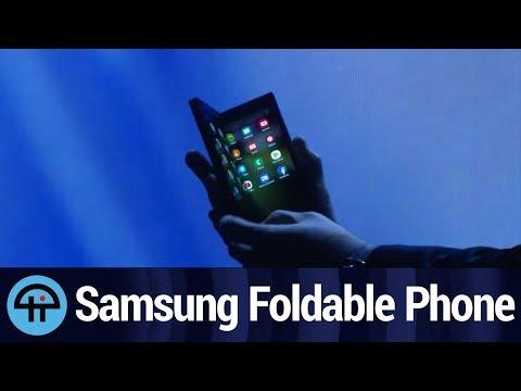 Samsung Foldable Phone Reveal