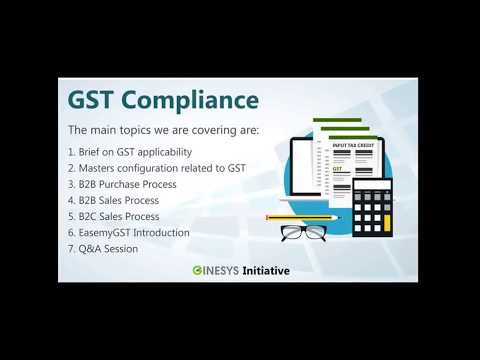 Ginesys GST Changes Webinar