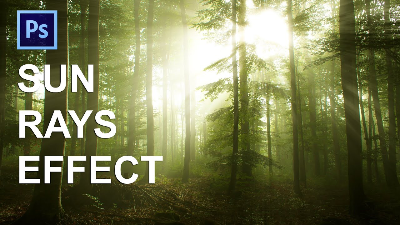 How to make sunrays in Photoshop
