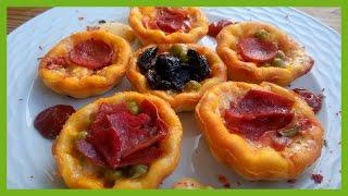 Muffin Kaplarında Mini Pizzalar