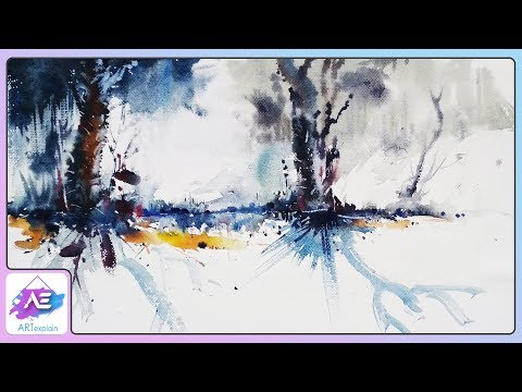 Jungle Watercolor Painting Landscape Tutorial | How to paint a watercolor landscape | Art Explain
