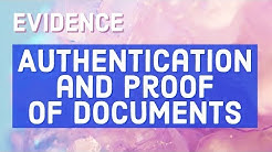 Authenticaton and Proof of Documents; EVIDENCE [Audio Codal]