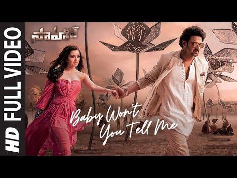 Saaho : Baby Won't You Tell Me Full Video | Prabhas, Shraddha K | Shweta M, Siddharth M, Shankar M