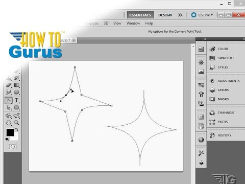 How To Make An Adobe Photoshop Drawing Using Vector Path Tools Cs5 Cs6 Cc Tutorial
