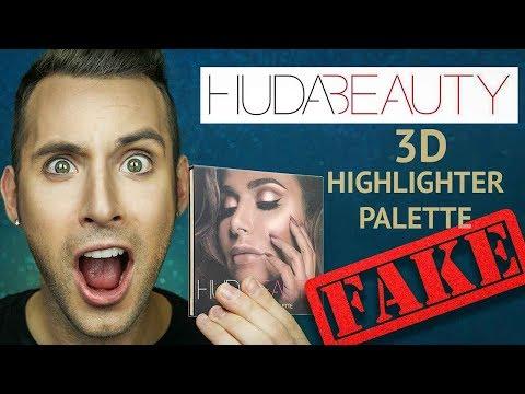 Fake HUDA BEAUTY 3D HIGHLIGHTER PALETTE | Tested