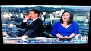 Chris Burrous Totally Loses It on the Air - KTLA 5 News - January 13, 2018