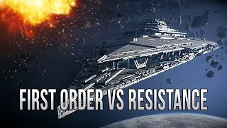 FIRST ORDER VS RESISTANCE! - Star Wars EMPIRE AT WAR [Yoden Mod]