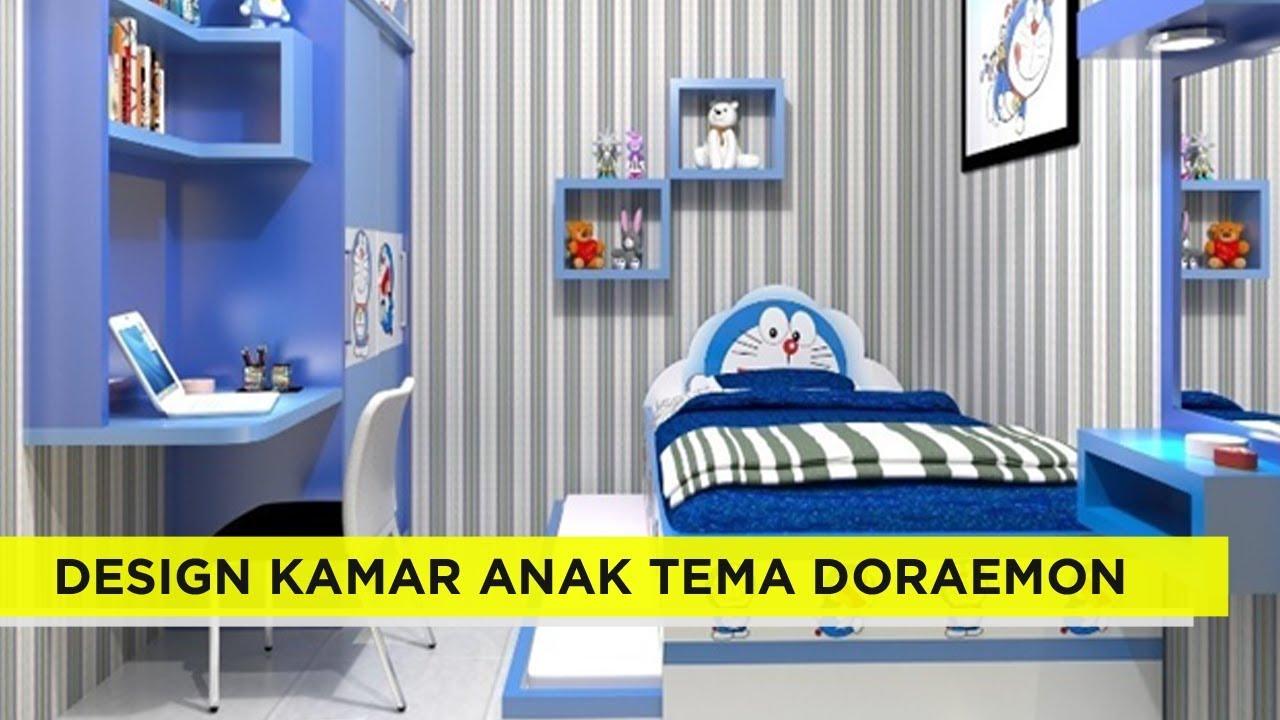 25 ide design kamar tidur anak bertemakan doraemon ini wajib kita