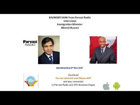 Rajinder Saini Interviewing Canada's Immigration Minister Ahmed Hussen