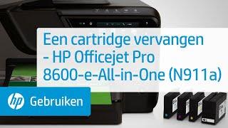 Een cartridge vervangen - HP Officejet Pro 8600-e-All-in-One (N911a)