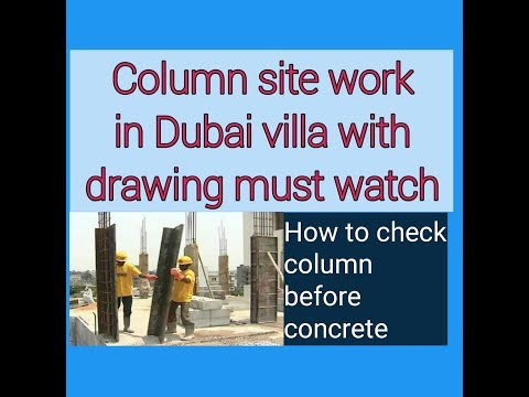 Column steel work in dubai villa
