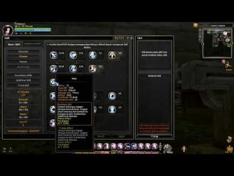Dragon Nest Indonesia : Skill Build PVE Raven Cap 90/93
