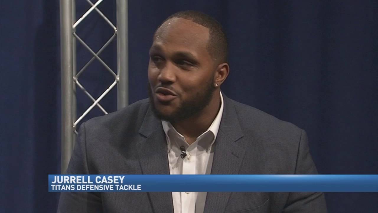 "Jurrell Casey discusses the ""Casey Fund"" on FOX 17 in Nashville"