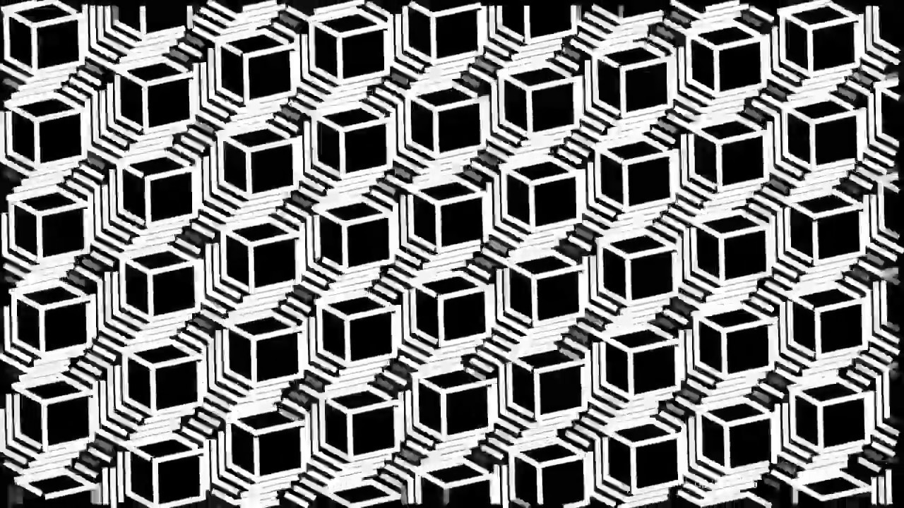 Line Art In After Effects : Untitled cubes d pattern generative art made with sketchup