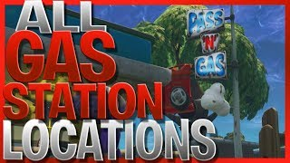 Visit Different Gas Stations - *ALL* 8 Gas Station Locations In Fortnite Battle Royale (Pass N Gas)
