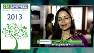Experience CSR Live Week - Ms. Shallu Jindal, Director Jindal Steels & Power