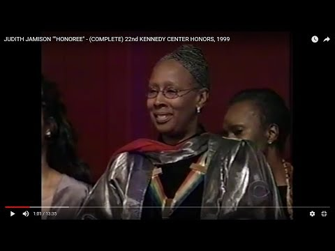 """JUDITH JAMISON """"""""HONOREE"""" - (COMPLETE) 22nd KENNEDY CENTER HONORS, 1999"""