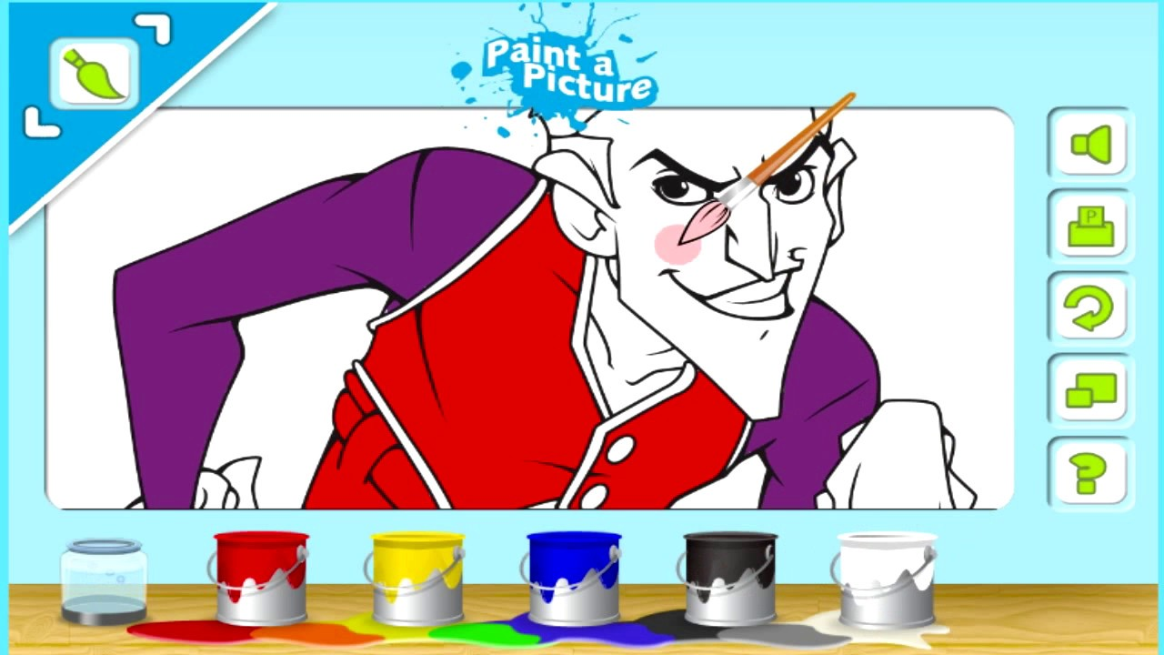 Online coloring book games - Painting Pictures Of Robbie Rotten Lazy Town Online Coloring Book Games Gameplay