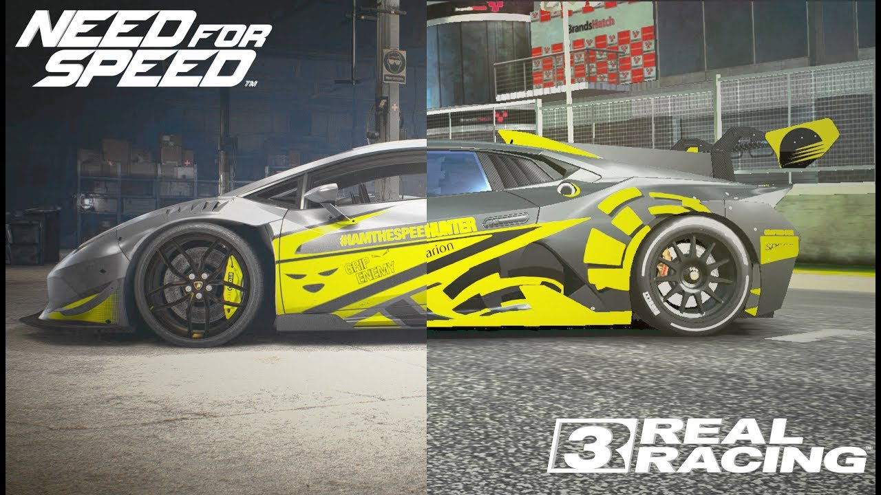 Putting my car vinyl design from nfs 2015 to real racing 3 lamborghini huracan super trofeo evo