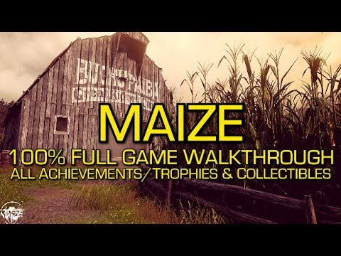 Maize - 100% Full Game Walkthrough - All Achievements/Trophies & Collectibles (Folios)