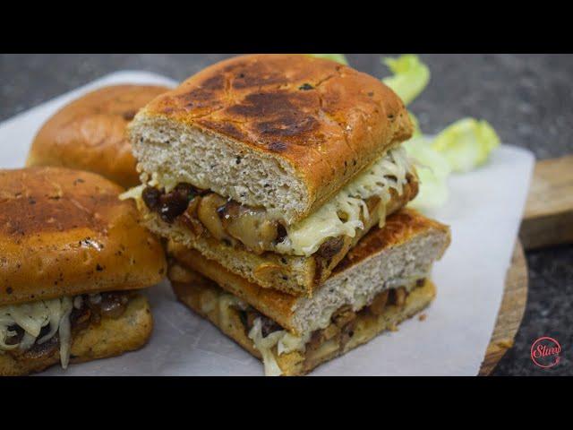 Cheesy Mushroom Onion Sandwich | Mushroom Sandwich